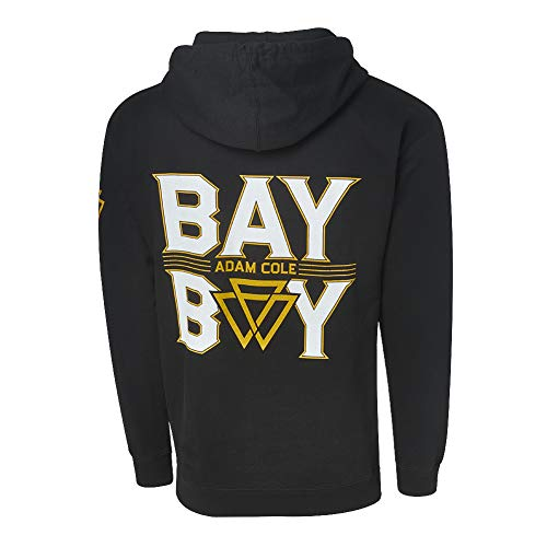 Adam Cole Bay Bay Pullover Hoodie Sweatshirt Multi Large Black (Wwe Hooded Sweatshirt)