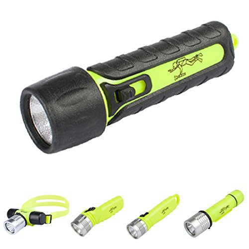 Three trees Diving Flashlight,3W 110 Lumens Super white LED Submarine Light Safety Waterroof Underwater For Scuba Outdoor Sports Rechargeable Bright LED Diving Torch Light(BATTERY NOT INCLUDE by three trees