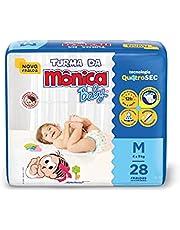 Fralda Turma da Monica Baby Jumbo M 28 Unidades, Turma da Mônica Baby, Azul, M
