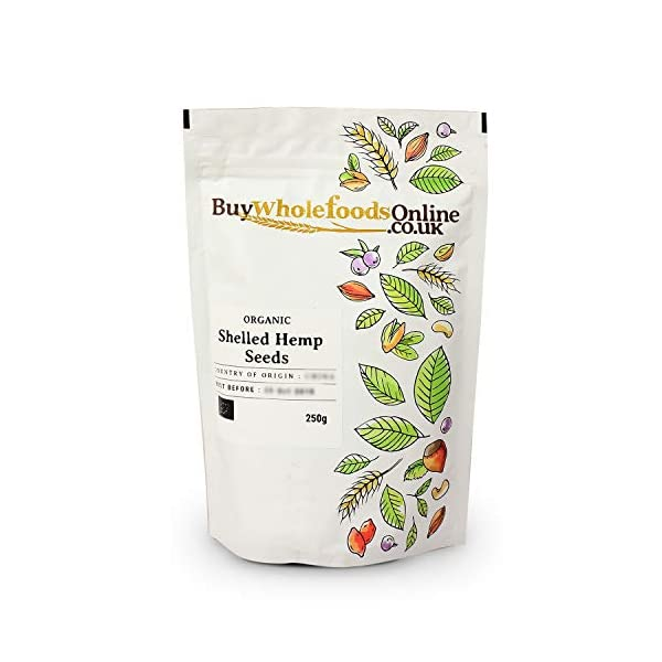 Buy Whole Foods Online Organic Shelled Hemp Seeds 250 g