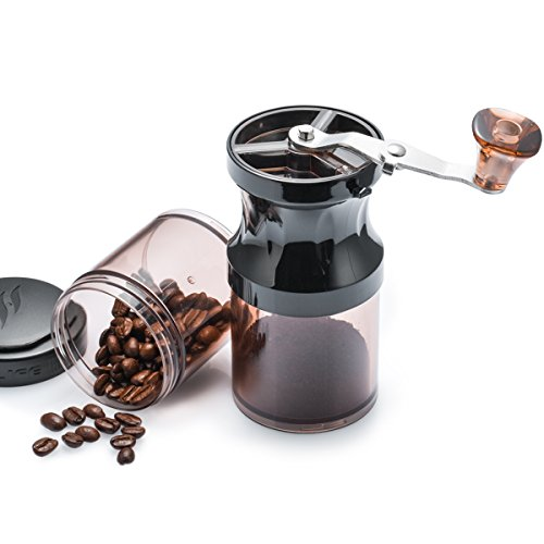 Best Price! SUOCO Portable Manual Coffee Grinder,Adjustable Ceramic Burr Mill and 2pcs Stackable Twi...
