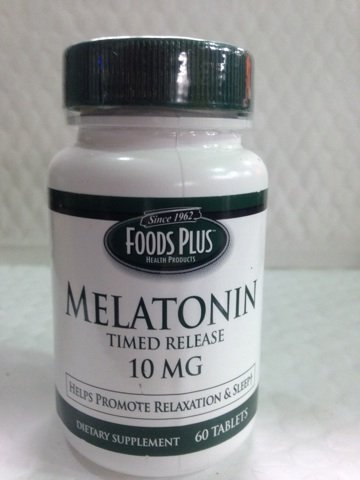 10mg Food Plus mélatonine Timed Release - 60 Ea