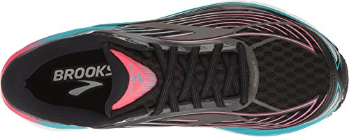 Picture of Brooks Women's Transcend 4 Black/Diva Pink/Teal Victory 5.5 B US