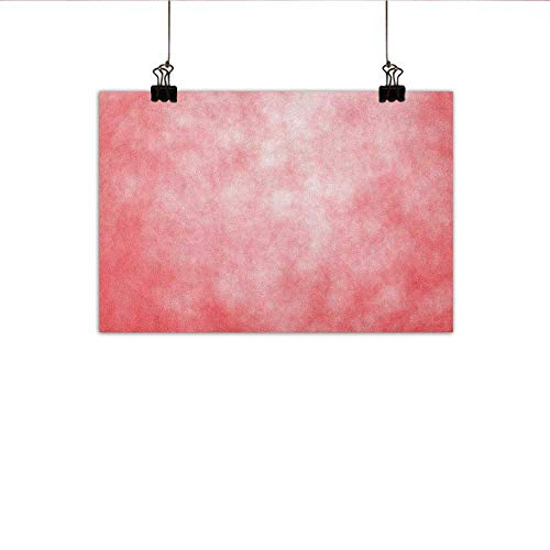 Littletonhome Coral Light Luxury American Oil Painting Pale Spring Watercolor Design Girlish Tie Dye Abstract Color Texture Image Home and Everything 24