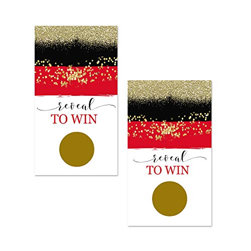 Red and Gold Scratch Off Party Game Card (28 pc.) -