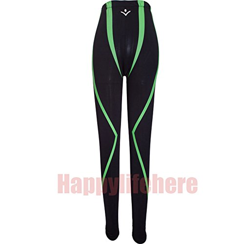 Happylifehere Japanese Anime Black with Green Stripe Long Casual Swimming Trunks Cosplay pants by happylifehere
