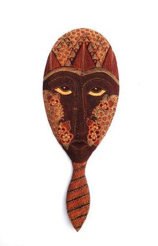 Handpainted Batik Mirror, Java Regal Queen, African Decor- Collector's Item, XL -22