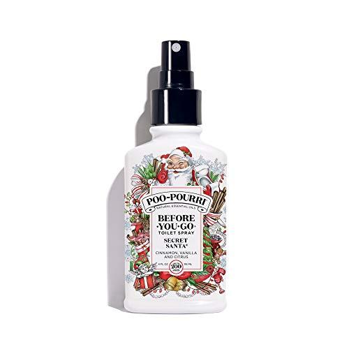 Poo-Pourri Before-You-Go Toilet Spray 4 oz Bottle, Secret Santa Scent]()