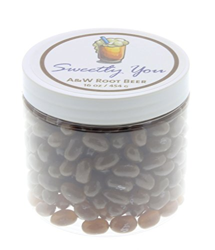 Root Beer Jelly Beans - Jelly Belly 1 LB Root Beer Flavored Beans. (One Pound, 1 Pound) Bulk Jelly Beans in a resealable and reusable jar.