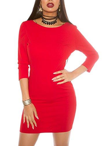 KouCla - Vestido - Estuche - para mujer Rojo