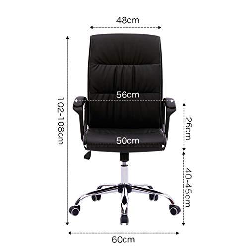 Kontorsstol med hög rygg stort säte och lutningsfunktion verkställande vridbar datorstol, ergonomisk, hållbar och stabil