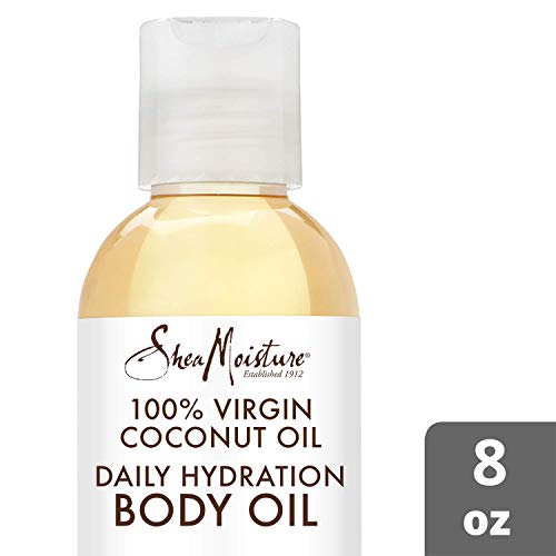 - Shea Moisture 100% Virgin Coconut Body Oil for Unisex, Daily Hydration, 8 Ounce