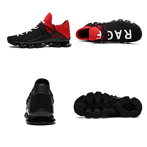 Mode Course Athlétiques Marche Maille Hommes Femmes Lame Baskets Red Slip On De mz815 Sport Chaussures Respirante Semelle Cx80Bwx