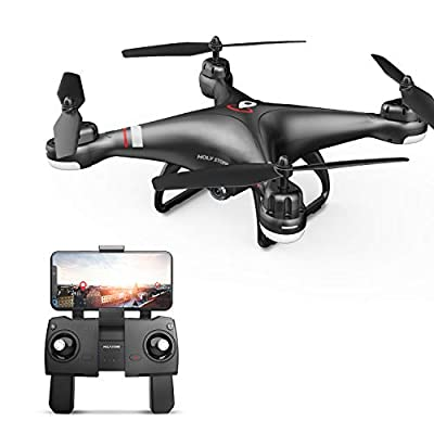 Holy Stone HS110G GPS Drone with 1080P Camera for Adults and Kids, RC Quadcopter with Wifi FPV Live Video Camera, Auto Return, Custom Flight Path, Long Flight Time, Follow Me, Auto Hover Headless Mode