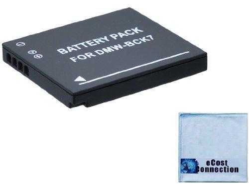 DMW-BCK7 Battery f/ Panasonic Lumix DMC-SZ02, DMC-SZ1, DMC-SZ5, DMC-SZ7, DMC-TS20, DMC-TS25, DMW-BCK7PP, DMW-BCK7E, NCA-YN101G Camera + Microfiber Cloth