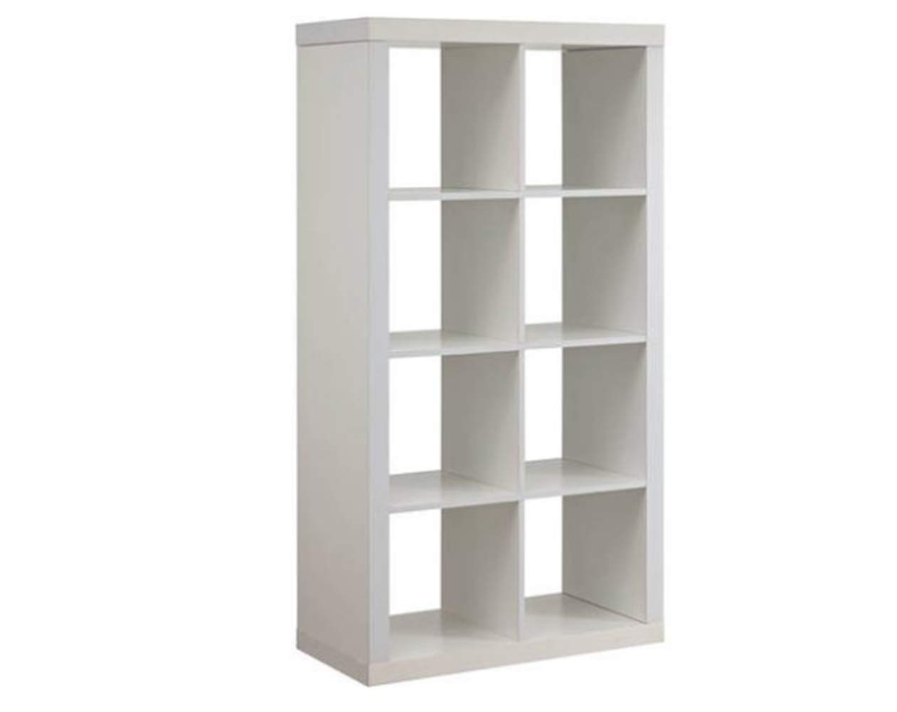 BHR White Bookcase Bookshelf, 8 Cubes, Premium Quality,Durable & High Resistant Construction, Wooden, Stylish & Modern Design, Storage, Easy Assembly & E-Book by BHR