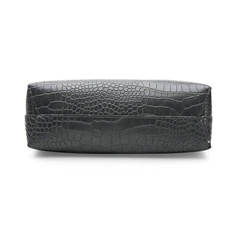 Hand Leather Bags Quality Handbags Bag Famous Black Messenger Clutch High Pu Gray Meaeo Women 51qABYY