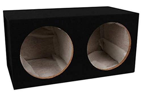 Sealed Logo Enclosure - Absolute USA DSS12 Dual 12-Inch, 3/4-Inch MDF Sealed Subwoofer Enclosure with Absolute USA Logo