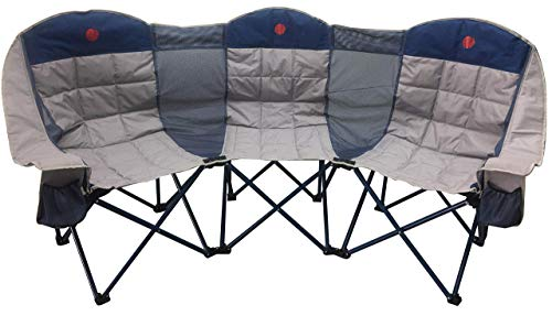 - OmniCore Designs MoonPhase Triple LoveSeat Heavy Duty Quad Folding Camp Chair