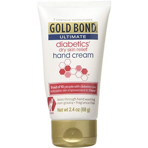 - Gold Bond Diabetics' Dry Skin Relief Hand Cream, 2.4 Ounces each (Value Pack of 3)