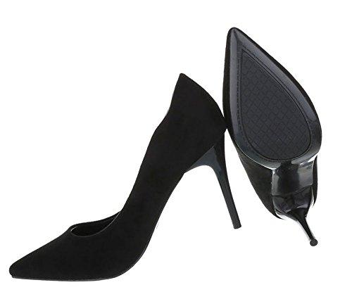 Spitze Damen Pumps   Stiletto Absatz   Abendschuhe Velours   Business Schuhe   elegante Buisness Pumps   Abendschuhe Pumps   Schuhcity24 Schwarz