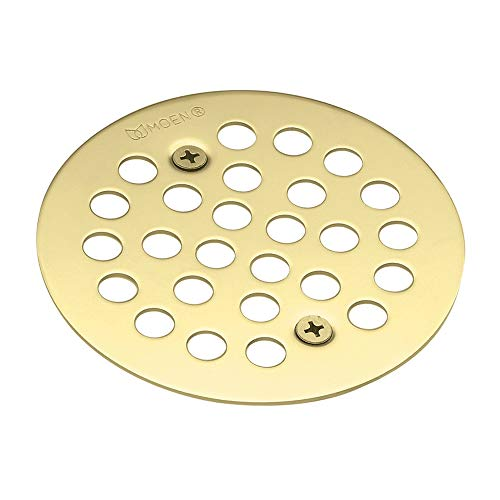 Moen 101664P Kingsley 4-1/4-Inch Screw-In Shower Strainer, Polished Brass
