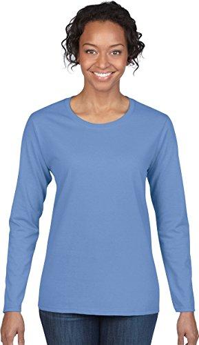 5400l Gildan Missy algodón grueso Fit manga larga camiseta Azul Carolina