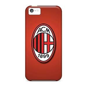 Iphone 5c BYi4394tTca Provide Private Custom Lifelike Ac Milan Series Anti-Scratch Cell-phone Hard Covers -DrawsBriscoe