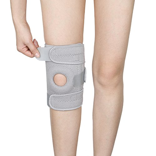 Ynport Knee Brace for Arthritis ACL Meniscus Outdoor Sports Lycra Spring Non-Bulky Best Open Patella Knee Protector Wrap Relieves Pain ()
