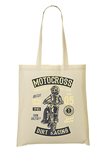 Motocross Dirt Racing Custom Engine 1985 Happy Kid Rider Bolso De Mano Bolsa De La Compra