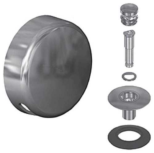 Watco Manufacturing 59290-BN 1 Hole Overflow QuickTrim Lift and Turn Trim Kit, Brushed Nickel
