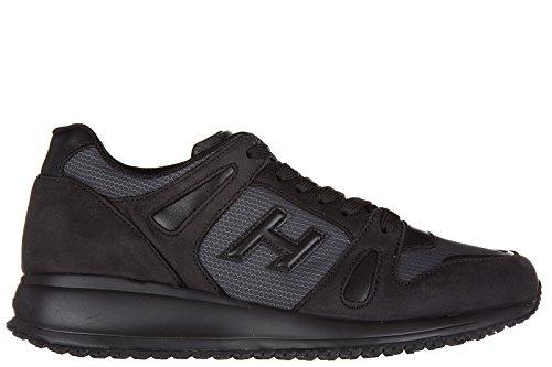 Hogan chaussures baskets sneakers homme en cuir interactive n20 noir