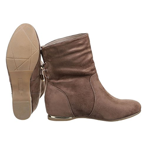 Ital-Design Botas plisadas Mujer marrón claro