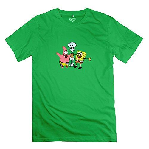RenHe Men's SpongeBob SquarePants T-shirts Size XXL ForestGreen