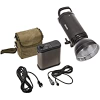 CowboyStudio Dual Power AC/DC 110v Mettle 600W Flash, Professional Strobe Flash Light, with Rechargeable Battery Pack
