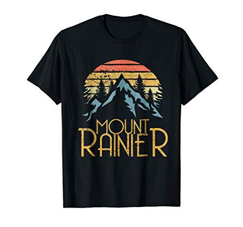 Vintage Retro Mount Rainier National Park WA Mountains Shirt