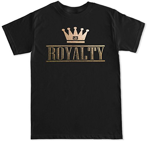 Ftd Apparel Mens Royalty Crown Retro 4 Metallic Gold T Shirt   Xxl Black