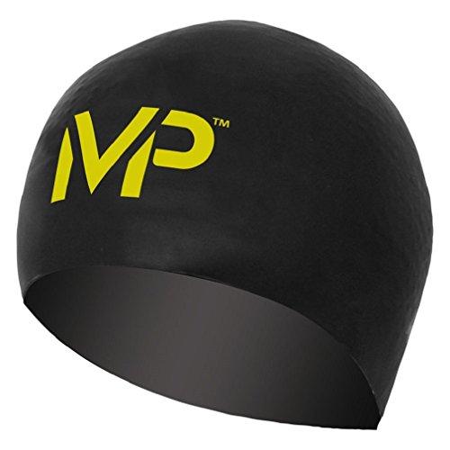 MP Michael Phelps Race Cap Swim Cap, Black/Yellow (Swimming Race)