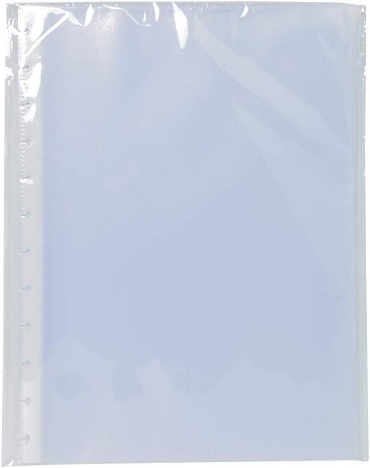 Exacompta 86001E - Recambio de 10 fundas para las carpetas de fundas con anillas, A4, transparente