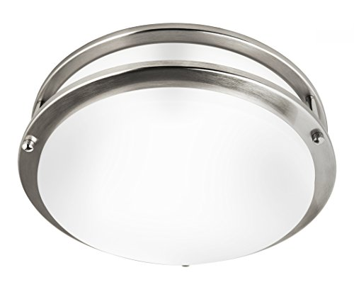 Hyperikon LED Flush Mount Ceiling Light, 12', 75W equivalent, 1600lm, 3000K (Soft White Glow), 120V,...