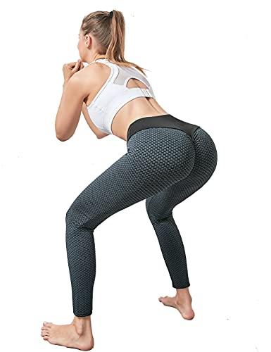 Xmoyaas Yoga Pants Butt Lifting Leggings for Women High Waist TIK Tok Workout Tights Black