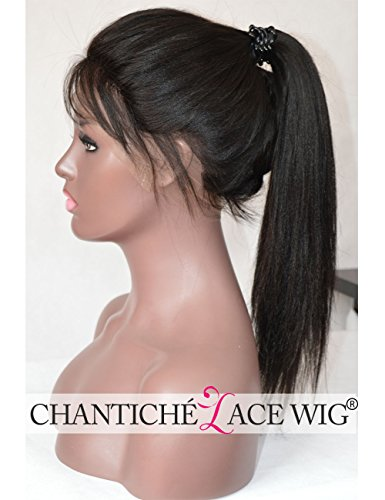 Search : Chantiche 6A Light Yaki Glueless Full Lace Wig Affordable Brazilian Human Hair Wigs For African American Women 130% Density 20inch #1B Medium Size Cap Light Brown Lace Color