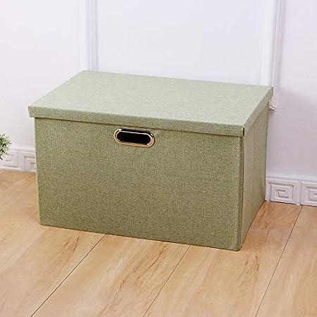 zxing Simple Ropa casa Caja de Almacenamiento, Armario cartón Caja organizadora, Mantas de escombros Hojas Organizador de cartón algodón 34.5x25.5x18cm Verde: Amazon.es: Hogar