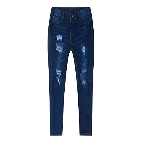Farmerl Women's Juniors Hole Casual Pants Stretch Denim Bootcut Jeans Trousers