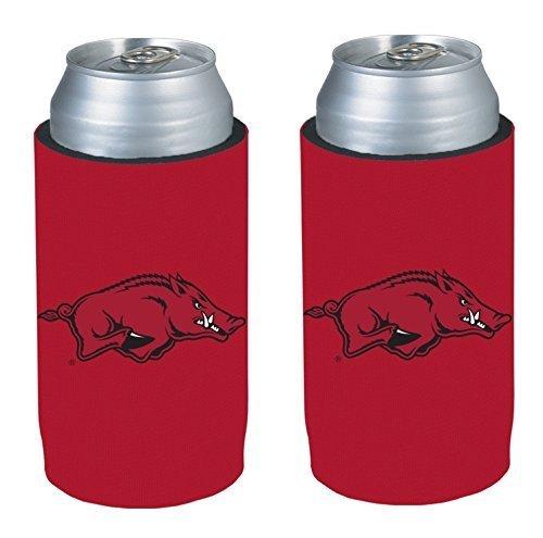 NCAA 2013 College Ultra Slim Beer Can Holder Koozie 2-Pack (Arkansas Razorbacks)