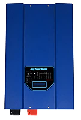 SUNGOLDPOWER 4000W Peak 12000W Low Frequency SP Pure Sine Wave Inverter 65A Battery Charger Solar Converter DC 24V AC Output 110V AC Priority Battery Priority Switch LCD New.