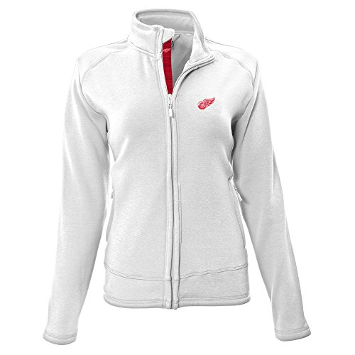 (NHL Detroit Red Wings Adult Women Tranquil Insignia Icon Heather Full Zip Jacket, X-Large, White)
