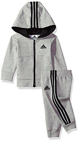 adidas Baby Boys Jacket Set, Grey Heather, 6M by adidas (Image #2)