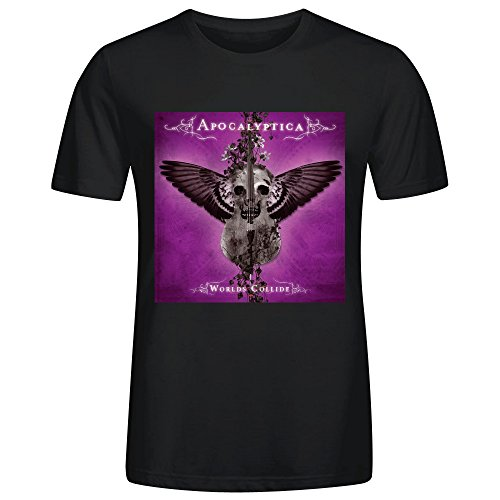Apocalyptica Worlds Collide Cool Mens T-Shirt Black