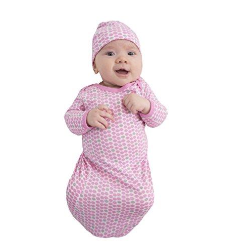 Baby Be Mine Newborn Gown and Hat Set (Newborn 0-3 Months, Chloe) - Layette Hat Cap